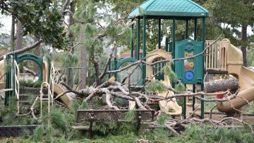 damaged playground
